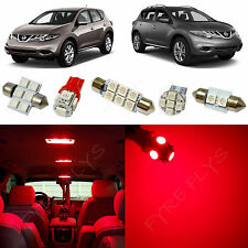 9x Red LED lights interior package kit for 2009-2014 Nissan Murano NM3R
