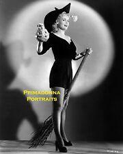 MARIE WILSON 8X10 Lab Photo B&W HALLOWEEN Pumpkin Witch Holiday Portrait 1940's