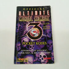 Official Ultimate Mortal Kombat 3 Pocket Kodes Codes Bradygames Strategy Guide