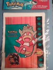 New Package 8 Pokemon cartoon party favor gift swag bags kids' birthday Slowking
