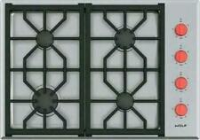 """Wolf 30"""" Ss 4 Dual-Stacked Sealed Burners Professional Gas Cooktop Cg304Pslp"""