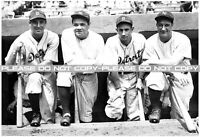 Vintage, Extremely RARE Lou Gehrig & Babe Ruth with Detroit Tigers Large Reprint