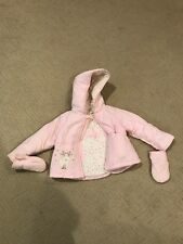 Harvest Baby Winter Jacket - Pink - 6-9 Months - With attached mitts