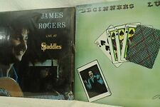 lot 2lp record James Rogers Live at Saddles night club Richmond  Beginners  Luck