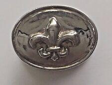 Story by Kranz & Ziegler Charm  MAN silver button with Fleur de Lis 4008863