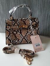 Missguided Brown Snake Print Mini Handbag , BNWT