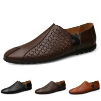 Men's Pumps Loafers Shoes Driving Moccasins Flats Hollow out Breathable Slip on