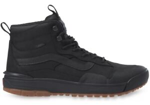Vans Men's 12 ULTRARANGE EXO Hi MTE. Triple Black. Trail Hiking Shoes