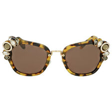 Miu Miu Light Havana Cat Eye Sunglasses