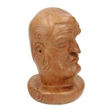An unusual hand carved sculpture  / bust of a man Wood Treen