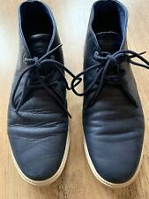 CLAE STRAYHORN MEN'S LEATHER LACE UP SHOES TRAINERS BOOTS MIDNIGHT BLUE UK 7