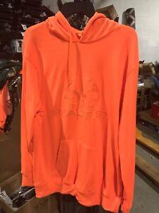 Realtree orange antler logo hunting hoodie- 2xl