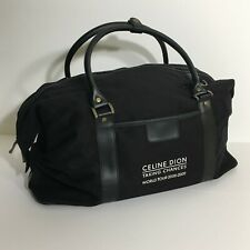 Celine Dion Taking Chances World Tour 2008-2009 Black Duffel Bag Vip Package