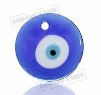 Blue glass greek turkish evil eye wall hanging 4CM Amulet Pendant Charm Judaica