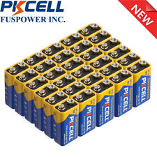 30x 9V Zinc Carbon Dry Batteries 6F22 9 Volt Shelf Life 3 years High Quality