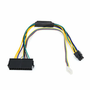 ATX 24pin to Motherboard 2port 6pin Power Supply Cable For HP Z220 Z230 SFF 30cm