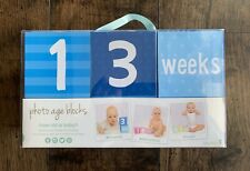 Tiny Ideas Baby Photo Age Blocks From Infant to Toddler NIP
