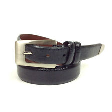 Johnston & Murphy Belt Size 40 100 cm Black Textured Leather Made In USA