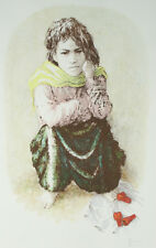 """Yemenite Girl"" by William Weintraub Signed Artists Proof AP Hand Colored Litho"
