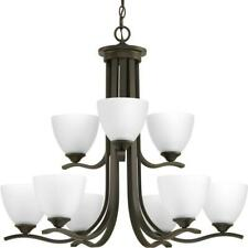 Progress Lighting Laird Collection 9-Light Antique Bronze Chandelier with Shade