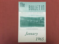 Williams Grove Steam Engine Association - January 1965 - The Bulletin