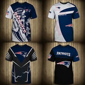 New England Patriots Men's Casual T-shirts Athletic Short Sleeve Top Tees S-5XL