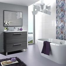 Urban Bathroom Vanity Unit Wash Basin Base Cabinet Grey Ash Waterproof Veneer