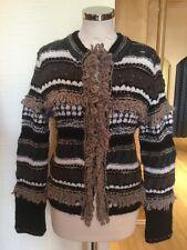 Aldo Martins Cardigan Size 16 BNWT Grey Beige Taupe Cream Black RRP £143 Now £42