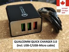 48W Qualcomm Quick Charge QC 3.0 USB-C Charger with Cable Iphone Android Xiaomi
