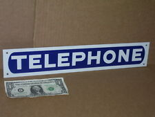 "TELEPHONE - Long Narrow -- 3"" Tall x17"" Long -- TIN SIGN -- Fits in Small Places"
