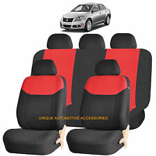 RED ELEGANT AIRBAG COMPATIBLE SEAT COVER SET for SUZUKI ERTIGA KIZASHI