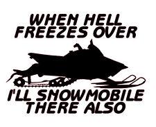 Hell Freezes Over Snowmobile arctic cat yamaha ski doo polaris 600 800 sled snow