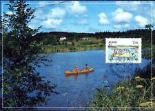 Indian Canoe Canoeing Aland Island Scene Holiday Finland Mint Maxi FDC 1991