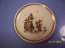 "Berta Hummel Museum 4"" Miniature Collector Plate Schmid 1979 Christmas Toys Tree"
