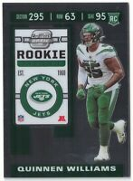 QUINNEN WILLIAMS - 2019 CONTENDERS OPTIC - ROOKIE TICKET #91 NEW YORK JETS RC