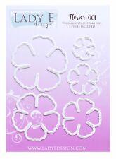 Lady E Design Flower 001 Cutting Die Set, Flower Making, Foam Flowers