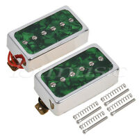 Green Pearl Single Coil Bridge Neck Pickups Set for Electric Guitar