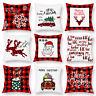 """18"""" Christmas Xmas Cushion Cover Pillow Case Cotton Home Sofa Throw Decor 2020"""