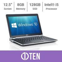 DELL Latitude E6220 E6230 12 Laptop i5 3.30GHz 8GB RAM 128GB 256GB SSD WIN 10