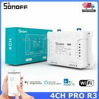 Sonoff 4CHPROR3 4 Gang WiFi Smart Switch Wireless 433MHZ RF APP Remote Control