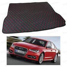Anti Scrape Leather Car Trunk Mat Carpet for Audi S6 Sedan 2013 14 15 16 2017