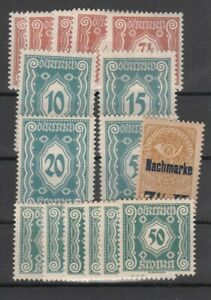 Österreich Porto Nr. 103-111, 112-117, **
