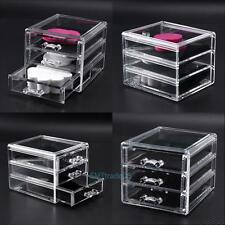 Acrylic Cosmetic Drawer Makeup Organizer Holder Jewelry Storage Box Display Case