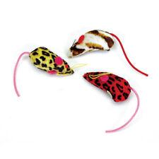 "Coastal Pet Rascals 2"" Safari Mice 3 Pack Cat Toy Mouse Multi Color Ship US"