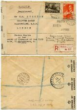 RUSSIA WW2 CENSORED MILITARY to GB 13 NOV 1943 to 5 JUNE 1944 REGISTERED