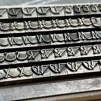 12p THANNHAEUSER Initialen - Bleisatz Lettern Buchdruck Letterpress Druckerei