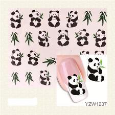 Nail Water Decals Nail Art Water Transfer Nail Stickers Accessory Cute Panda