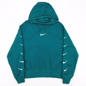 NIKE  Green Sports Pullover Hoodie Womens L