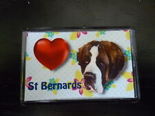 St Bernard Dog Fridge Magnet 77x51mm Free UK Postage Birthday Gift