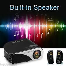 Mini Portable LCD Projector Video 1500Lumens Support 1920*1080 HD Black EU Plug